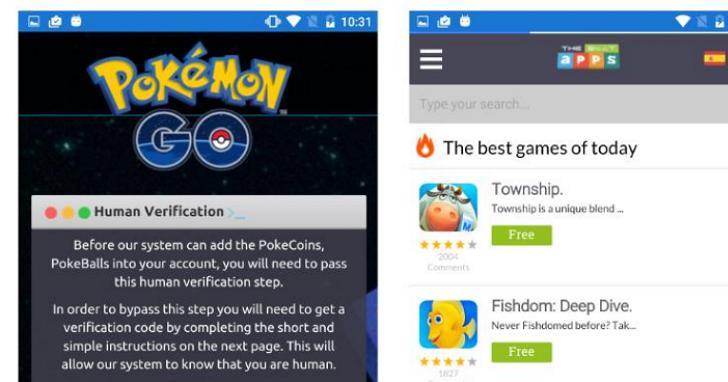 山寨版《Pokémon Go》現身,假 GPS 定位誘騙下載廣告應用程式