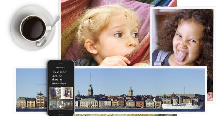 美國列印服務廠商將網路廣告實體化:每月可免費印20張實體照片幫你送到家,但照片背後則是廠商廣告