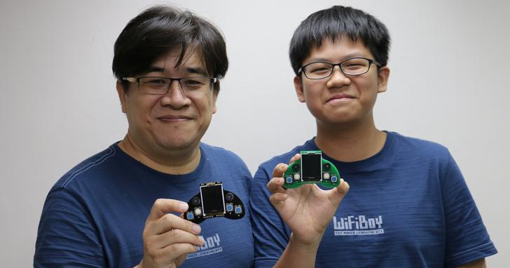 這款國人自製帶有螢幕、按鍵的WiFiBoy學習板,是由一對父子打造的「Maker 的遊樂器」