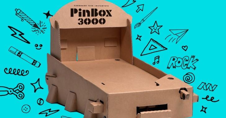 創客手做風,可自行改造的PinBox 3000紙箱彈珠台