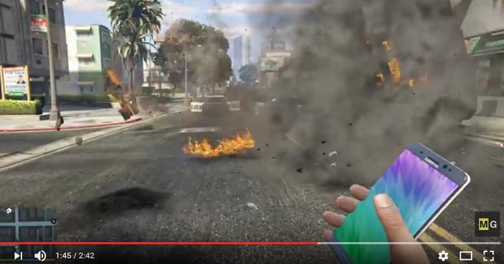 超酸!玩家用 Note 7製作出了GTA V 的最強武器模組
