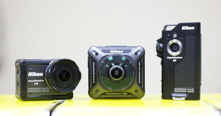 Nikon KeyMission 終於亮相,全系列共有 360 全景、170 度超廣、80 度輕巧相機三種選擇