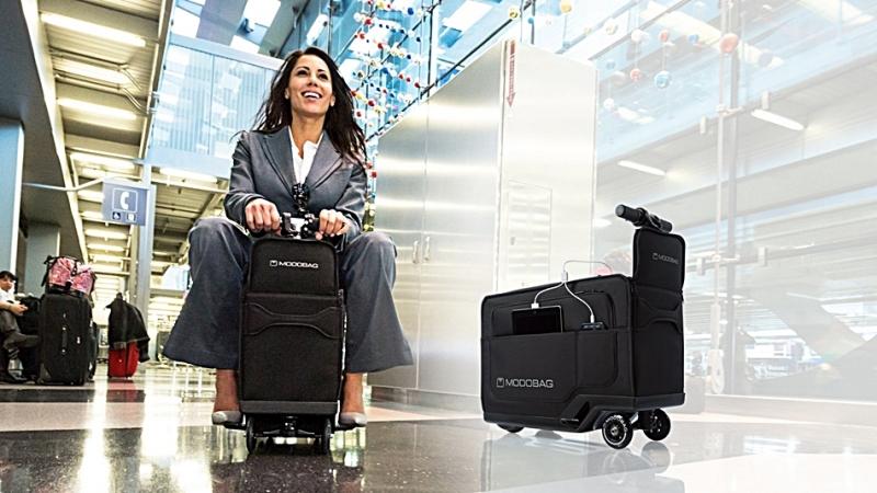 用走的很累很辛苦,那就讓登機箱載你一程吧!Modobag讓你不鐵腿