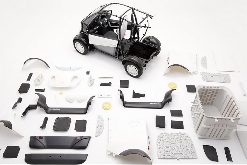 利用3D列印自己搞定造型,Honda微型都會車展現日本風
