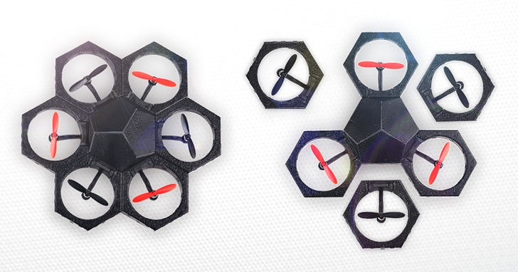 水陸空三棲作戰!模組化Airblock無人機還可自由變形