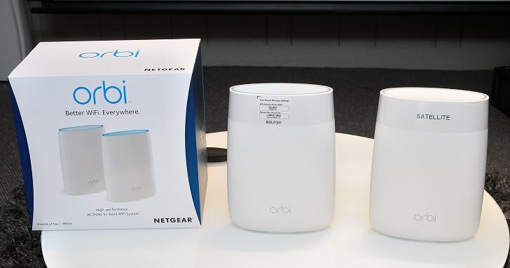 AC3000 三頻 Wi-Fi 延伸系統,Netgear Orbi 即將開賣