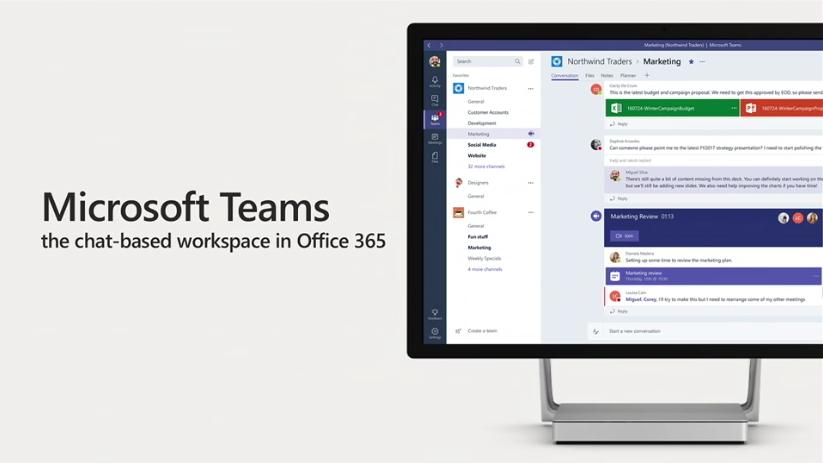 微軟發表Microsoft Teams:以聊天為基礎的協作環境、讓工作團隊虛擬溝通零時差