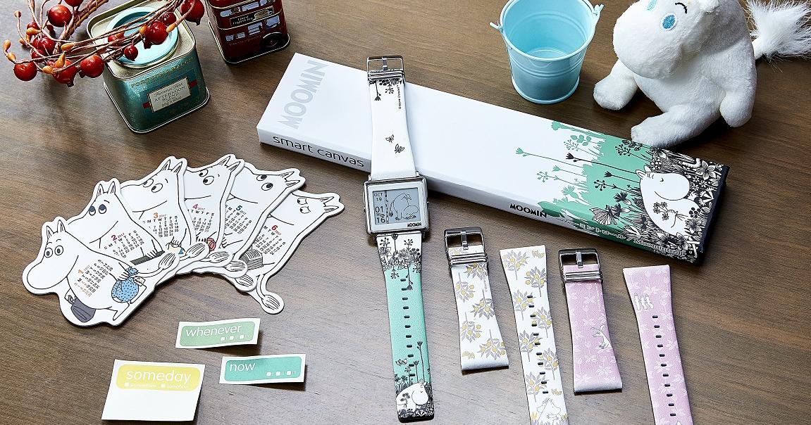 Epson Smart Canvas電子紙療癒手錶,新推嚕嚕米錶款以及史努比、拉拉熊冬季限定款