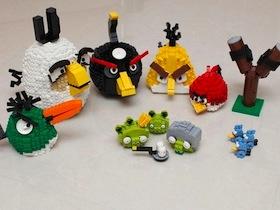 用樂高組裝 Angry Birds