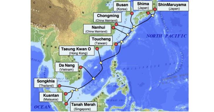 100Gbps光傳輸技術,中華電信投資之亞太直達海纜APG宣佈完工啟用