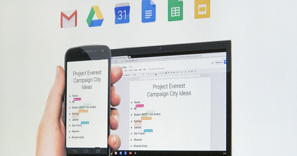 Google 企業版Office工具 G Suite 產品總監說明,如何用機器學習來自動生成圖表、安排行程空檔