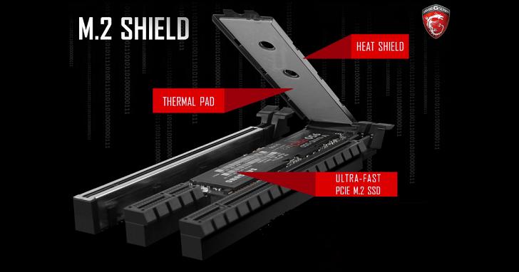 壓制 PCIe 固態硬碟高溫,MSI 新主機板將配備 M.2 Shield 散熱設計