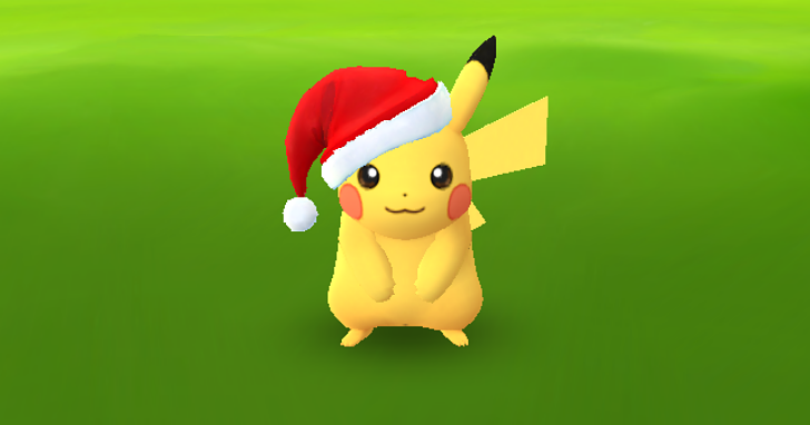Pokemon GO 聖誕節活動開跑,限定版皮卡丘大街小巷都抓得到!