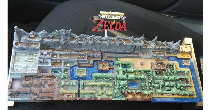 網友用3D列印打造出薩爾達傳說初代完整立體地圖,細節精緻到讓玩家感動到想哭!