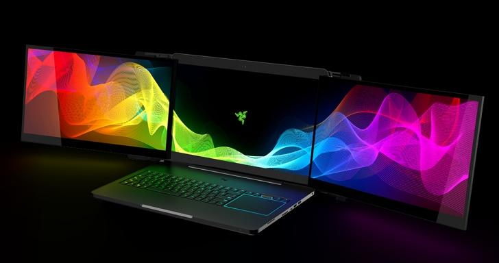 自備帶三塊 4K 螢幕來打怪,Razer 發表全新怪物級 Project Valerie 電競筆電