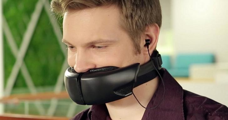 非惡搞,這是一個用來讓別人聽不見你講話的消音口罩