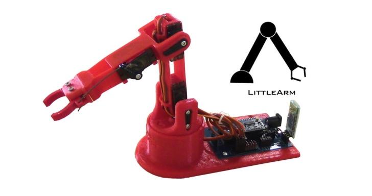LittleArm 2C機械手臂套件,讓小朋友學習透過程式控制