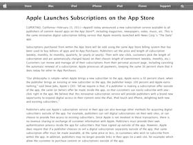 用 App 訂雜誌,Apple Store 官方訂閱功能上線