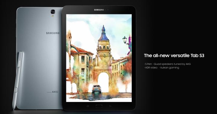 三星發表平板 Galaxy Tab S3、二合一電腦 Galaxy Book 以及新一代有手把的 VR