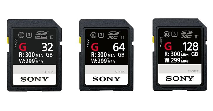 地表最速 SD 卡,Sony 推出寫入速度達 299mb/s 且防水耐震的 SF-G 系列記憶卡