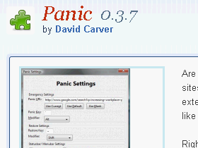 Panic :史上最快 Firefox 老闆鍵