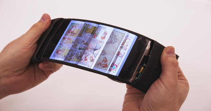 看書想翻頁用手指滑落伍了,ReFlex 只要彎曲螢幕就能做到
