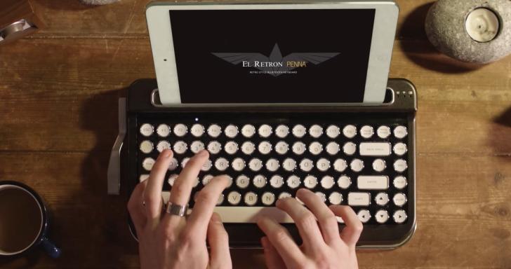 就是要懷舊,打字機造型Penna藍牙鍵盤還能1個打5個