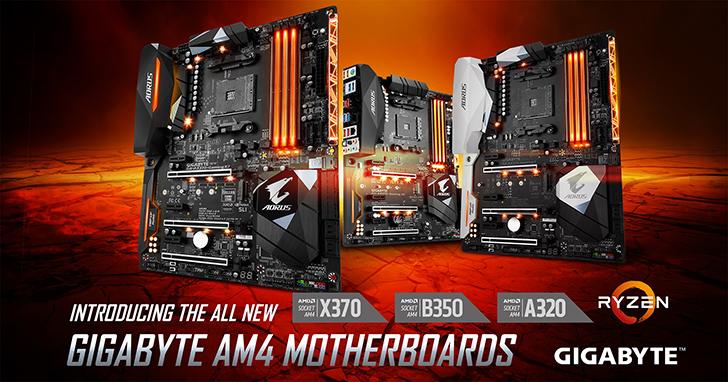 技嘉全新AMD A320晶片組主機板磅礡上市!承襲超耐久傳統,技嘉全系列AM4主機板皆可展現AMD Ryzen™ 5 處理器強大效能!