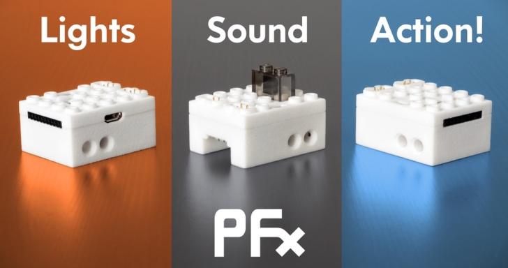 不只讓樂高積木變成遙控玩具,PFx Brick還能舞動聲光