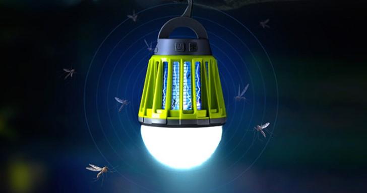 蚊蟲剋星,Mosquito Zapper Lantern把捕蚊燈跟燈泡結合為一