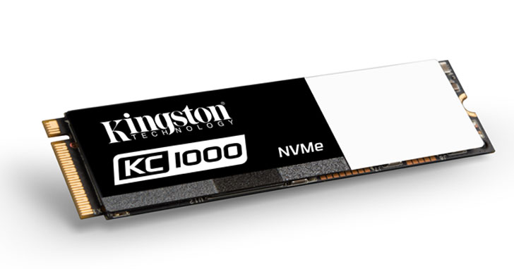 Kingston 推出全新KC1000 NVMe PCIe固態硬碟,滿足重度使用者需求