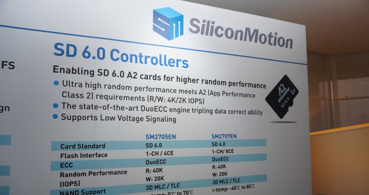 Android手機跑記憶卡速度將大幅提升,Silicon Motion發表SD 6.0 A2規範控制器
