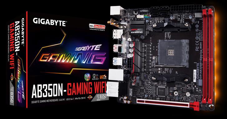 技嘉推出最新AB350N-Gaming WIFI主機板 全新空間配置 完美支援AMD旗艦級Wraith MAX風扇