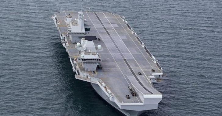 英國最新航空母艦「伊利莎白女王」號被發現仍在使用 Windows XP