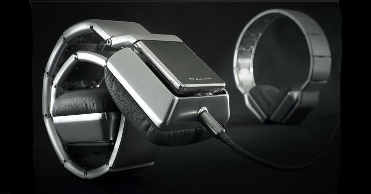 這款看似不鏽鋼錶帶的產品,其實是款價值台幣 93,000 元的耳機:Luzli Roller MK01