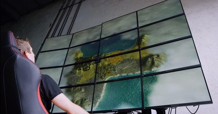 16K 超高解析度玩遊戲是什麼光景,螢幕上《古墓奇兵:崛起》的蘿拉跟真人一樣高