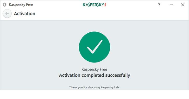 Kaspersky Free英文版開放下載,安裝後免序號自動取得授權