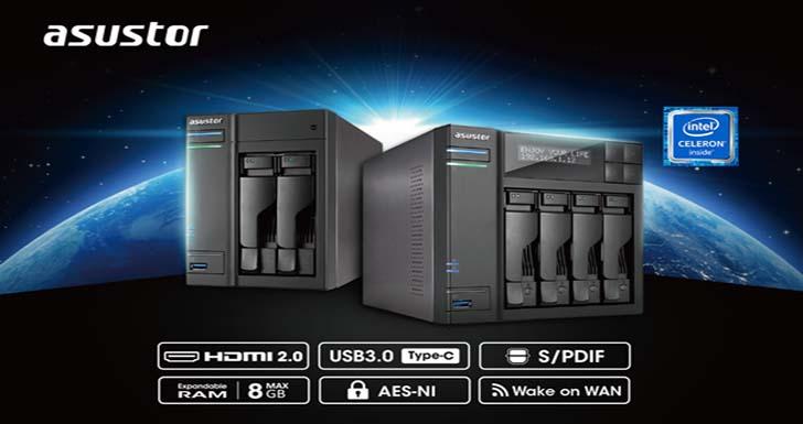 華芸科技搶攻玩家及中階企業巿場,推出AS6302T 及 AS6404T兩款桌上型 NAS
