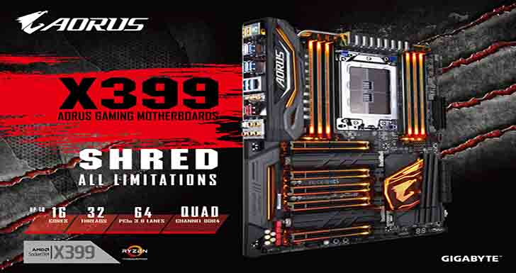 技嘉發表X399 AORUS Gaming 7電競主機板  嚴選用料輔以豐富功能,完美發揮AMD RyzenTM ThreadripperTM處理器的極致效能