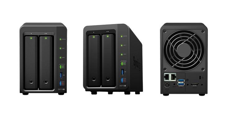 Synology 發表 DiskStation DS718+ 適合成長中企業使用,可擴充至 7 顆硬碟的 NAS 裝置