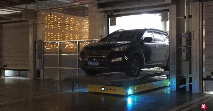 杜絕停車三寶!這是北京首間提供機器人停車服務的停車場
