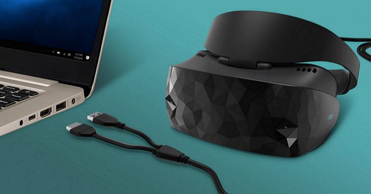 華碩 Windows 混合實境頭戴式裝置:價格比PS VR便宜、內建兩組 6 自由度(6DoF)位置追蹤前置鏡頭