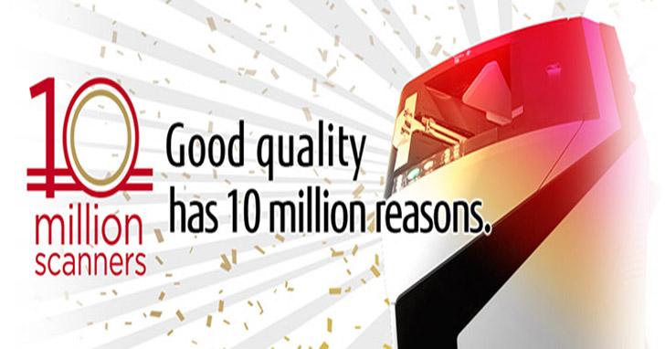 富士通影像掃描器全球出貨量已經超過1,000萬台!