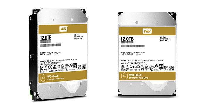 Western Digital推出12TB WD Gold硬碟  滿足日益成長的大數據應用與容量需求  新款硬碟促使用戶能有效且可靠地儲存大量商業關鍵資料