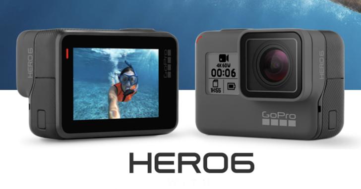 可錄製 4K 60fps 影片與 240fps 慢動作,GoPro Hero 6 Black 運動攝影機登場