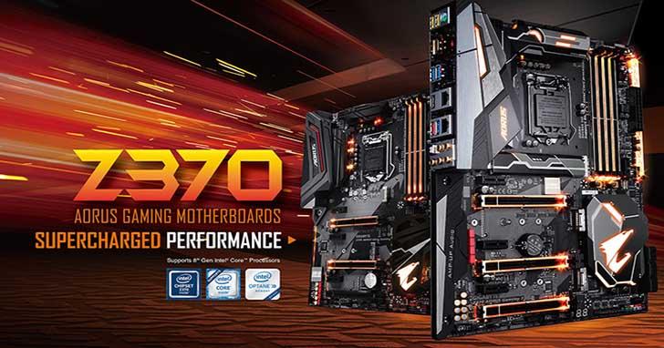 技嘉AORUS Z370電競主機板搶先上市  內建豐富功能,提供超乎玩家預期的電競感受