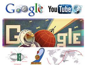 Google 今日塗鴉:人類首次太空飛行50周年