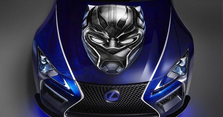 不是只有鋼鐵人有跑車,LEXUS搭上漫威《黑豹》版旗艦跑車將登大銀幕