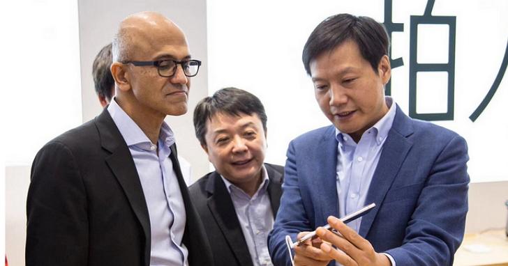 微軟與小米要合作了嗎?微軟CEO納德拉今天現身小米之家,雷軍親自導覽