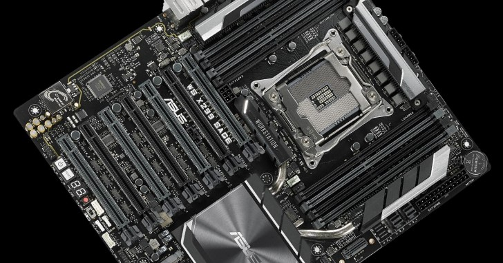 2 個 PEX 8747 擴增成 7 條 PCIe 插槽,Asus 發表 WS X299 SAGE 主機板